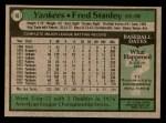 1979 Topps #16  Fred Stanley  Back Thumbnail
