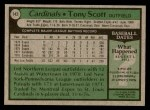 1979 Topps #143  Tony Scott  Back Thumbnail