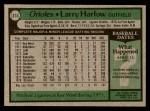 1979 Topps #314  Larry Harlow  Back Thumbnail