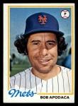 1978 Topps #592  Bob Apodaca  Front Thumbnail