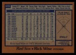1978 Topps #572  Rick Wise  Back Thumbnail
