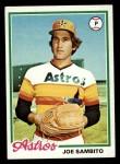 1978 Topps #498  Joe Sambito  Front Thumbnail