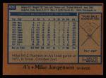 1978 Topps #406  Mike Jorgensen  Back Thumbnail