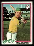 1978 Topps #406  Mike Jorgensen  Front Thumbnail
