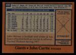 1978 Topps #486  John Curtis  Back Thumbnail