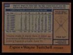 1978 Topps #269  Wayne Twitchell  Back Thumbnail