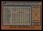 1978 Topps #681  Rob Belloir  Back Thumbnail