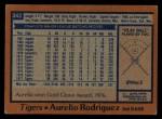 1978 Topps #342  Aurelio Rodriguez  Back Thumbnail
