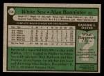 1979 Topps #134  Alan Bannister  Back Thumbnail