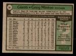 1979 Topps #84  Greg Minton  Back Thumbnail