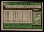 1979 Topps #426  Chris Speier  Back Thumbnail