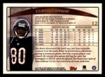 1998 Topps #12  Curtis Conway  Back Thumbnail