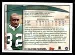 1998 Topps #46  Leon Johnson  Back Thumbnail