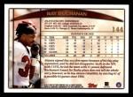 1998 Topps #144  Ray Buchanan  Back Thumbnail