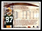 1998 Topps #87  Robert Brooks  Back Thumbnail