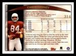 1998 Topps #314  Chris Gedney  Back Thumbnail