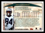 1998 Topps #321  Joey Galloway  Back Thumbnail