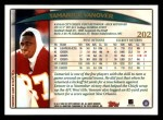 1998 Topps #202  Tamarick Vanover  Back Thumbnail