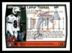1999 Topps #48  Lamar Thomas  Back Thumbnail