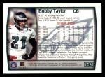 1999 Topps #143  Bobby Taylor  Back Thumbnail