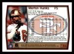 1999 Topps #186  Merton Hanks  Back Thumbnail