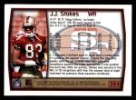 1999 Topps #284  J.J. Stokes  Back Thumbnail