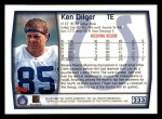 1999 Topps #233  Ken Dilger  Back Thumbnail