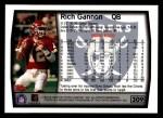 1999 Topps #309  Rich Gannon  Back Thumbnail