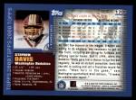 2000 Topps #170  Stephen Davis  Back Thumbnail