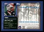 2000 Topps #203  Vinny Testaverde  Back Thumbnail