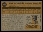 1960 Topps #527  Jose Valdivielso  Back Thumbnail