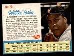 1962 Post #70  Willie Tasby   Front Thumbnail