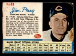 1962 Post #43  Jim Perry   Front Thumbnail