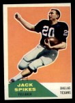 1960 Fleer #39  Jack Spikes  Front Thumbnail