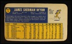 1970 Topps Super #35  Jim Wynn  Back Thumbnail