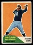 1960 Fleer #58  George Blanda  Front Thumbnail