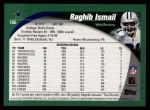 2002 Topps #166  Rocket Ismail  Back Thumbnail