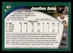 2002 Topps #87  Jonathan Quinn  Back Thumbnail