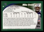 2002 Topps #39  Mike Green  Back Thumbnail