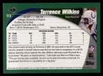 2002 Topps #113  Terrence Wilkins  Back Thumbnail