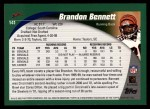 2002 Topps #141  Brandon Bennett  Back Thumbnail