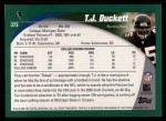 2002 Topps #373  T.J. Duckett  Back Thumbnail