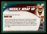 2002 Topps #296   -  Rod Gardner Weekly Wrap-Up Back Thumbnail