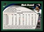 2002 Topps #224  Mark Brunell  Back Thumbnail