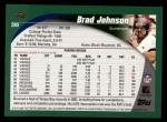 2002 Topps #280  Brad Johnson  Back Thumbnail