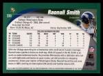 2002 Topps #330  Raonall Smith  Back Thumbnail