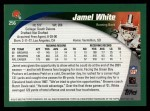 2002 Topps #256  Jamel White  Back Thumbnail
