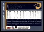2003 Topps #180  Leon Johnson  Back Thumbnail