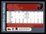 2003 Topps #108  Shane Matthews  Back Thumbnail