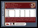 2003 Topps #200  Terrell Owens  Back Thumbnail